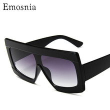 Women Flat Top Sunglasses for Female Brand