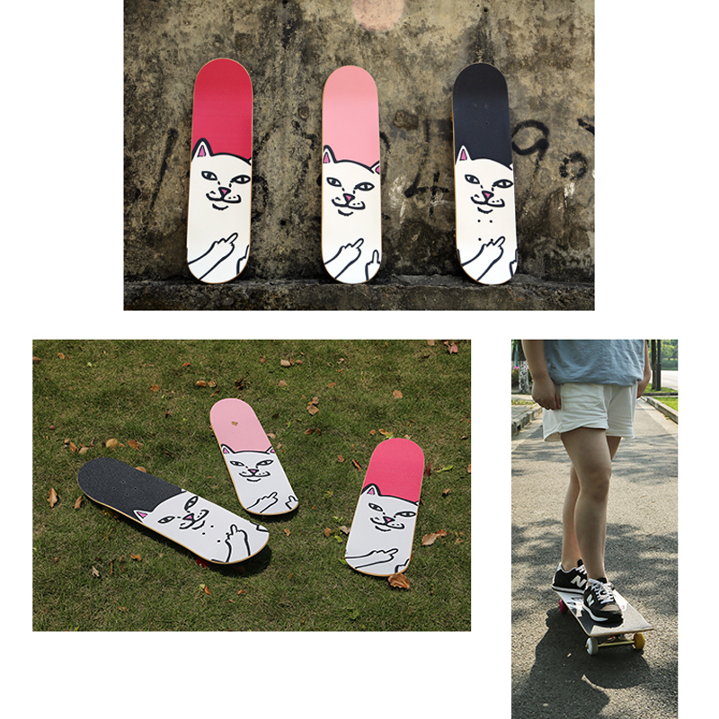 84 23cm Skateboard Sandpaper Skate Grip Tape Longboard Sandpaper Non slip Antiwear Hard Wearing Cats Scooter Deck Paster in Skate Board from Sports Entertainment