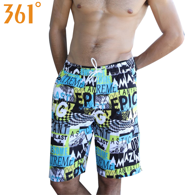29bd0b172b 361 Men Swimming Shorts Quick Dry Surfing Beach Board shorts Sports Mens  Swimming Trunks Boxer Swimming