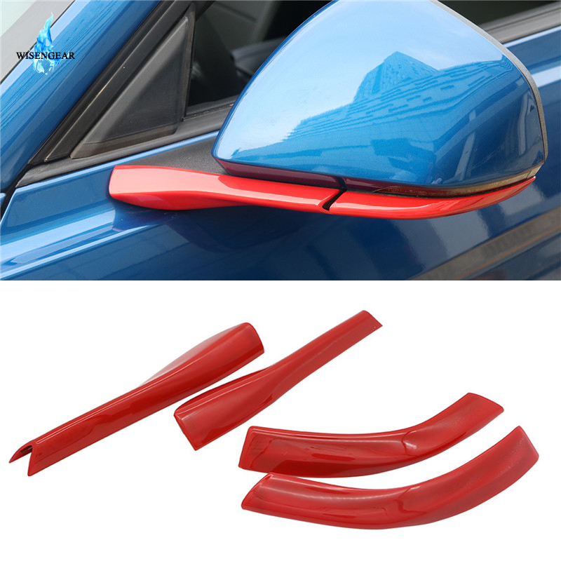 ABS Red Inner Door Handle Trim Grab for Ford V6 GT Mustang Coupe GT350 2015-2018