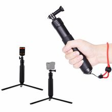 Mini Waterproof Selfie stick With Tripod portable Monopod with phone clip For Gopro3 3+ 4 5 Sjcam Xiaoyi Action cameras phone(China)
