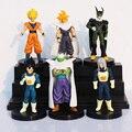 Dragon Ball Z Figuras de Acción Celular/Goku/Vegeta PVC Figuras Juguetes Mejor Colección de Regalos 6 unids/set Envío Gratis