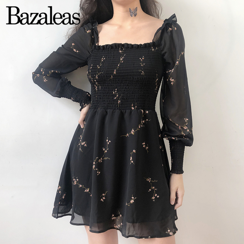 4c370dab104c5 RZIV Summer women's dress casual flower print short sleeved ruffled ...