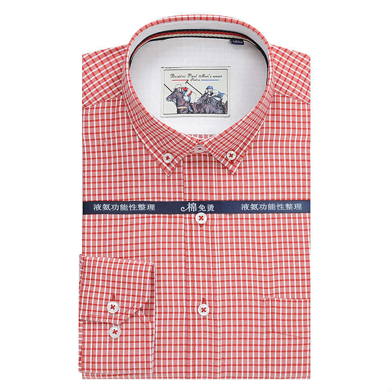 Nueva camisa holgada de manga larga informal de negocios a cuadros fina de nueva calidad de otoño 2019 3XL 4XL 5XL 6XL 7XL 9XL 10XL