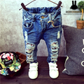2-7Yrs Children Broken Hole Pants Trousers 2015 Baby Boys Girls Jeans Brand Fashion Autumn Kids Trousers Children Clothing ZJ04