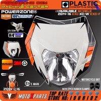 Powerzone Motorrad Dirt Bike Motocross Supermoto Universelle Scheinwerfer Scheinwerfer Für KTM EXC XCW EXCF SX SXF 125 250 300 450 500