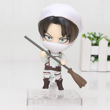 10 cm Nendoroid figura Attack on Titan Levi Limpeza Ver. 417 Nendoroid PVC Action Figure Collectible Modelo Toy(China)