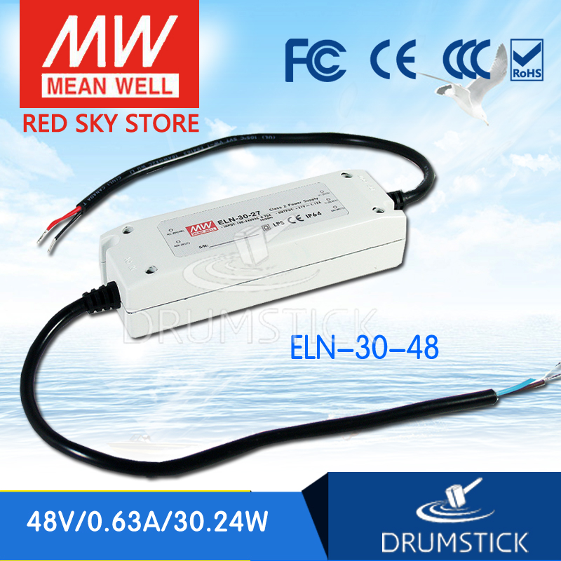 Selling Hot MEAN WELL ELN-30-48D 48V 0.63A meanwell ELN-30 48V 30.24W Single Output LED Driver Power Supply электрочайник de longhi kbi2000 bk