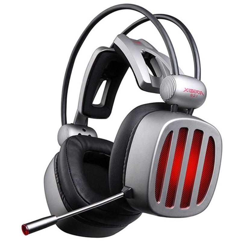 Xiberia S21 casque de jeu 7.1 casque stéréo avec son Surround avec Microphone lumière LED pour ordinateur Gamer casque de jeu USB