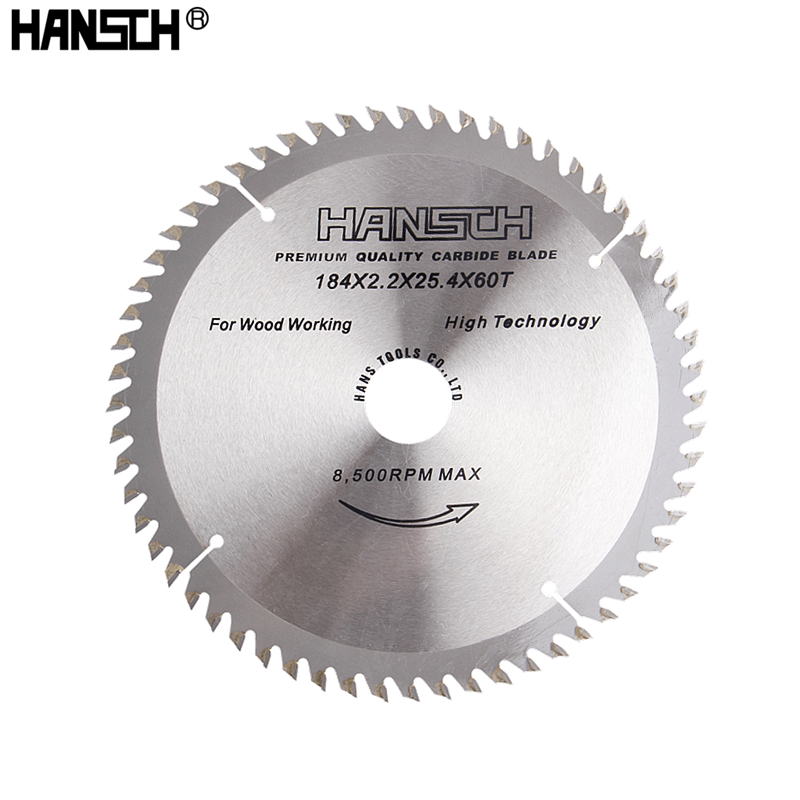 HANSCH 7/184mm Circular Saw Blade 40/60 Tooth Wheel Discs For Cutting Wood Aluminum Iron Plate Electric Saw Power Tool