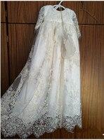 Роскошные Bling жемчуг Обувь для мальчиков Обувь для девочек Крещение платье детское платье наряд белый/слоновая кость Кружево крестильное п