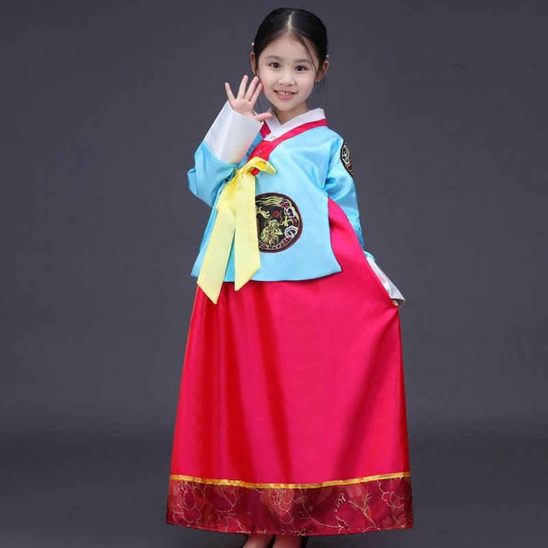 Hanbok קוריאני לאומי תלבושות בנות ילדים קוריאני מסורתי שמלת קוספליי קוריאני hanbok ביצועי בגדי hanbok TA426