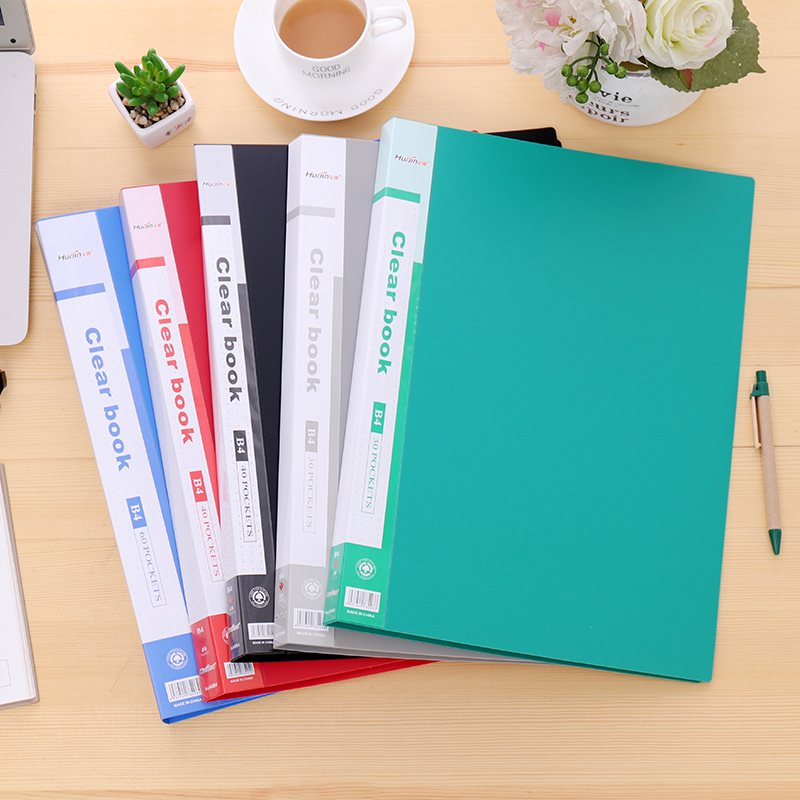Premiun PP Material Black Blue Red Green Grey 30 40 60 Page B4 File Folder Document Filing Bag School Office Supplies Stationery anime cartoon lovely my neighbor totoro pvc action figures collectible model dolls toys kids gifts kt475 href