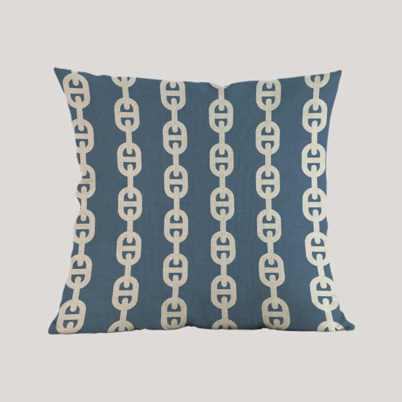 Estilo marino estilo mar tejido azul rosado navegación Funda de - Textiles para el hogar - foto 3