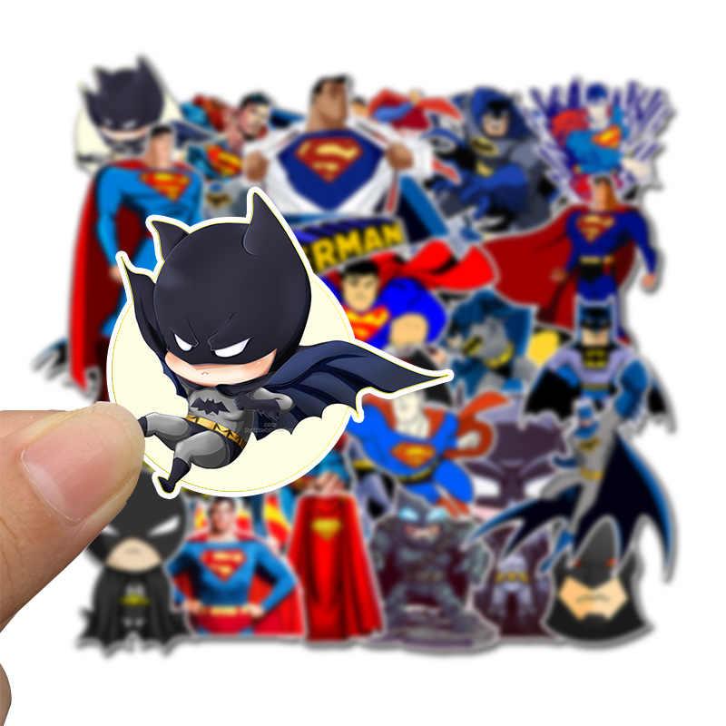 45 шт Мультяшные наклейки DC Бэтмен и наклейки Супермена, наклейка для сноуборда, багажа, автомобиля, холодильника, ноутбука