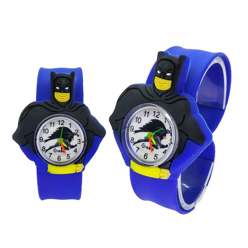 Fashion Slap Kids Watches Children Batman Watch Silicone Wristwatch For 2-10 Year Old Boys Girls Gifts Clock Relogio Feminino