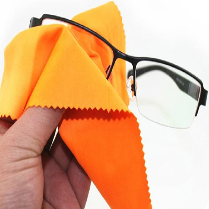 iTECHOR 1pcs Large Microfiber Cleaning Cloth for Screens Lenses Glasses window Eyeglass Towels 30*30cm - Color Random