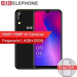 "Elephone A6 mini 4 GB 32 GB мобильный телефон Android 9,0 5,71 ""водослива Экран MT6761 4 ядра 16MP Камера 3180 mAh 4G LTE смартфон"