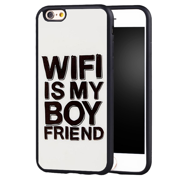 e6620421a wifi is my Best Friend quotes Posters Soft Silicone Protective case Cover  For iPhone X 8 7 7Plus 6 6S Plus 5 5S SE