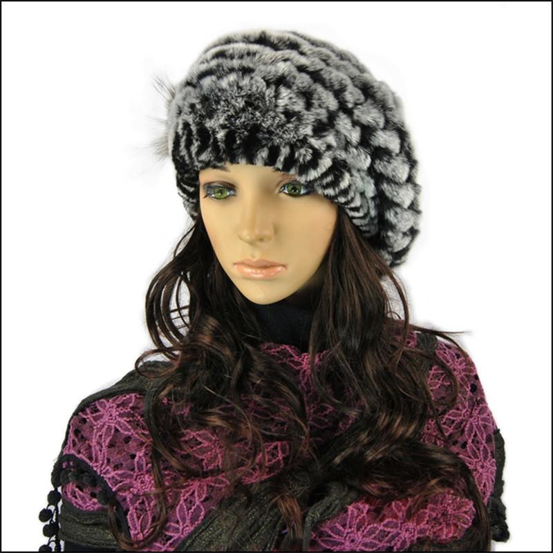 625c19abc13 Women s hats Rex Rabbit Fur Hat Real Fur A Cap Winter Hats Beanies ...