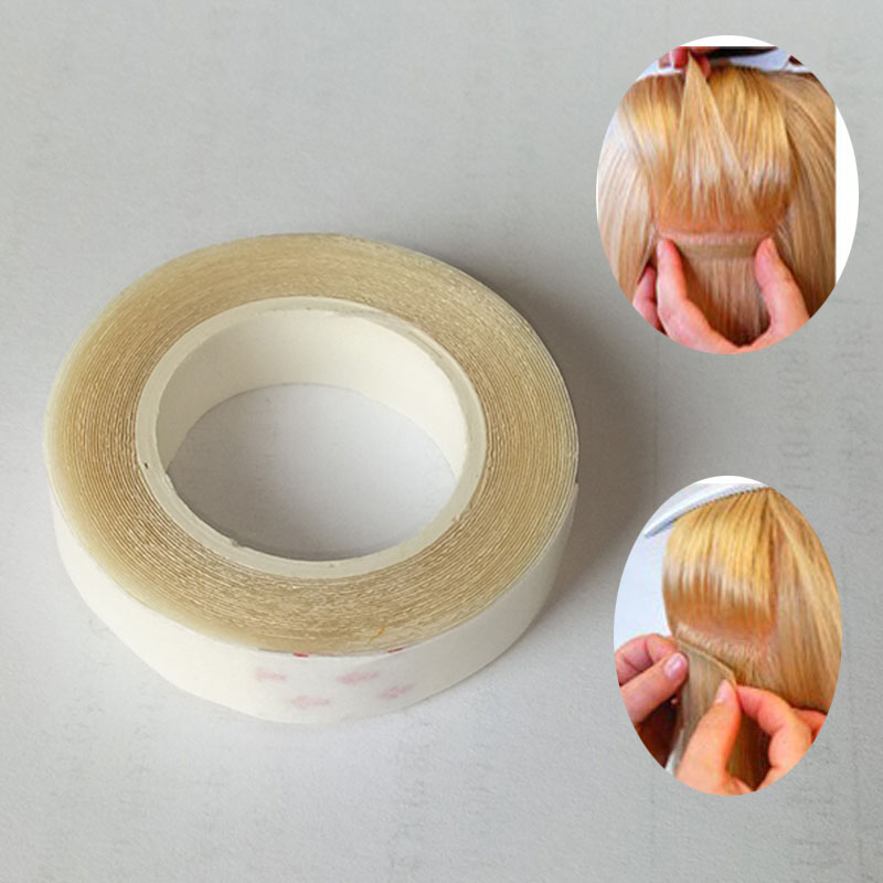 1pcs HIGH QUALITY 1cm*3m Double-Sided Adhesive Tape for Skin Weft Hair Extensions - supe ...