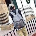 Novo design de moda das mulheres dos homens da lona do vintage bolsa de viagem saco de livro da escola do estudante universitário masculino lazer mochila