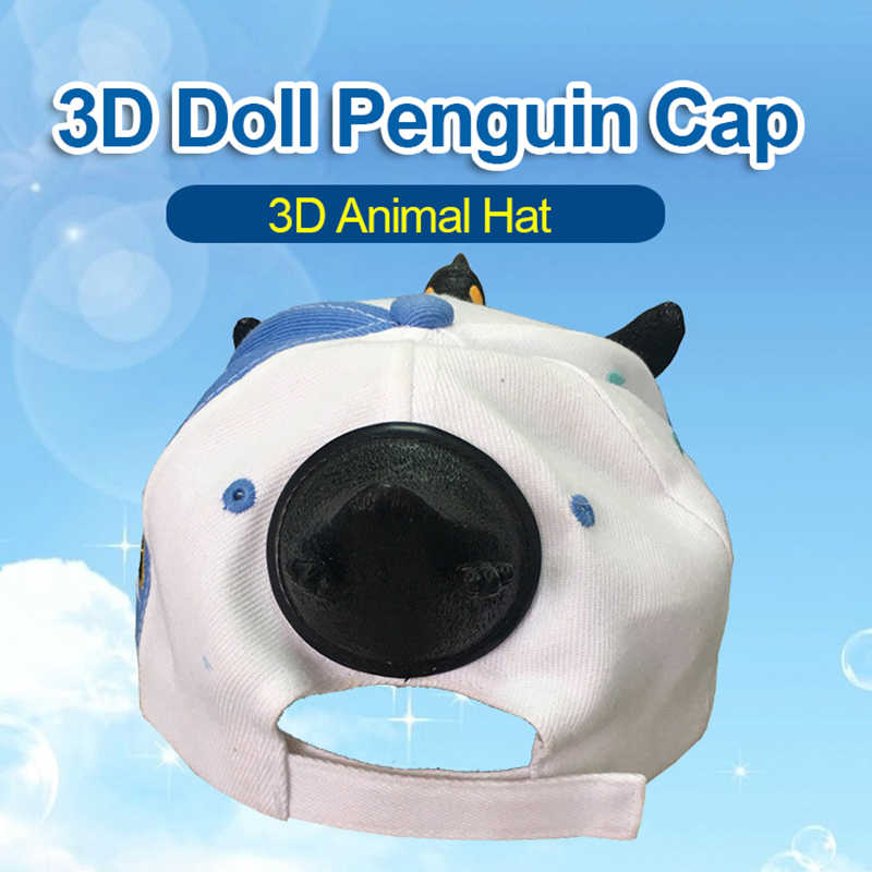 3c738b04 ... 2019 New Fashion 3D Cute Penguin Hat Cartoon Baseball Caps Men And Women  Christmas Gift Dad ...