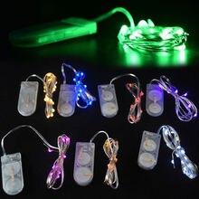 Медной батарейках проволоки фея светодиодных строка питания света мини