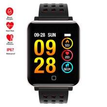 Купить с кэшбэком Sports Waterproof Swim Smart Watch Heart Rate/Blood Pressure Monitor Smartwatch For Apple/Moto/Huawei PK Fenix 5/S6 Mi band 3