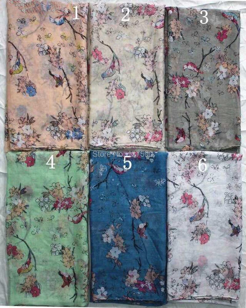 2015 nouvelles femmes foulards mode arbre oiseau écharpe châle Wrap femmes  Hijab imprimé Animal écharpe gros livraison gratuite b5f0464d5a1