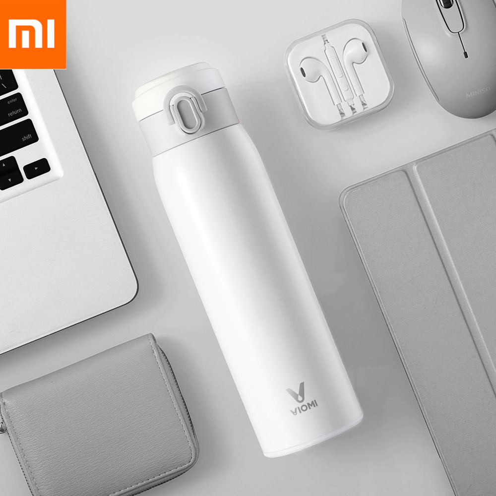 Xiaomi Mijia VIOMI 460ml Thermos Stainless Steel Vacuum Insulated Mug Sealed Water Bottle 24 Hours Single