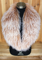 On Sale XX Large Real Genuine Mongolian Wool Fur Collar Scarf Scarve Shawl Wrap