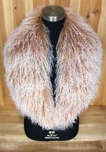売却 XX 大本物のモンゴルウールの毛皮の襟スカーフ Scarve ショールラップ