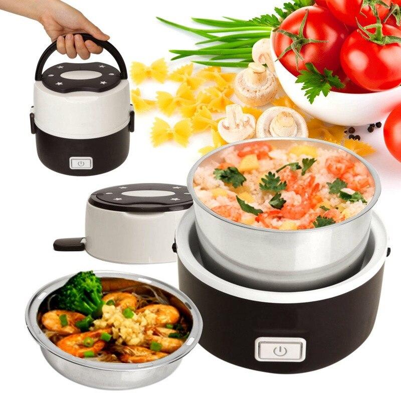 1.3l Lunch Box Portatile Elettrico Rice Cooker In Acciaio Inox 2 Strati Piroscafo Picnic Bento Cibo Container Nuovo Arrivo