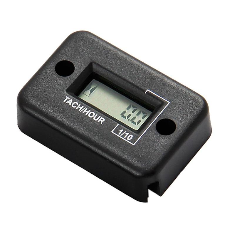 Induktív digitális RPM Tach óraóra fordulatszámmérő 2/4 STROKE motorkerékpár-síhajókhoz targonca dirt bike MX HM012
