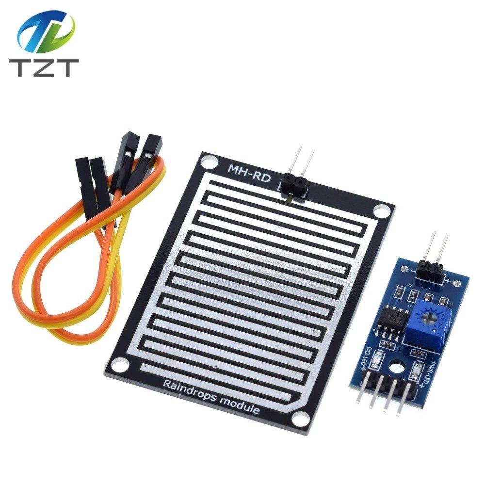 1set/lot Snow/Raindrops Detection Sensor Module Rain Weather Module Humidity For Arduino