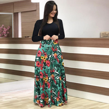 2019 Casual Maxi Vestido Boêmio Impressão 4XL 5XL Plus Size Boho Verão Robe As Mulheres Se Vestem Elegantes Vestidos Longos Roupas de Praia Vestidos 1
