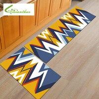 דגם גיאומטרי שטיחים מחצלות דלת שטיח דלת כניסה לבית גודל גדול מחצלת אבק הוכחה סלון שטיח רצפת המטבח 50*160 ס