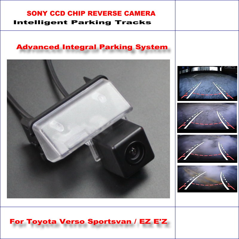 Car Rear View Back Up Camera For Toyota Verso Sportsvan EZ E'Z Vehicle Parking Camera 580 TV Lines Dynamic Guidance Tragectory image
