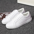 MWSC Fashion Men Chaussure Casual White Shoes Unisex PU Flats with Zapatillas Deportivas Mujer Lovers Shoes