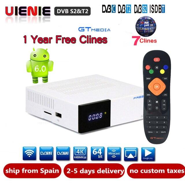 [Genuine]GTC DVB-S2 DVB-C DVB-T2 ISDB-T Amlogic S905D android 6.0 TV BOX 2 GB RAM 16 GB ROM Wifi 2.4G+BT4 Satellite TV Receiver