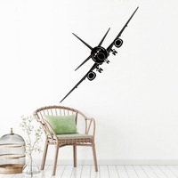 Vinyl Large Size 49CM 130CM Bomber Wall Stickers DIY Modern Art Wall Stickers For Kids Rooms