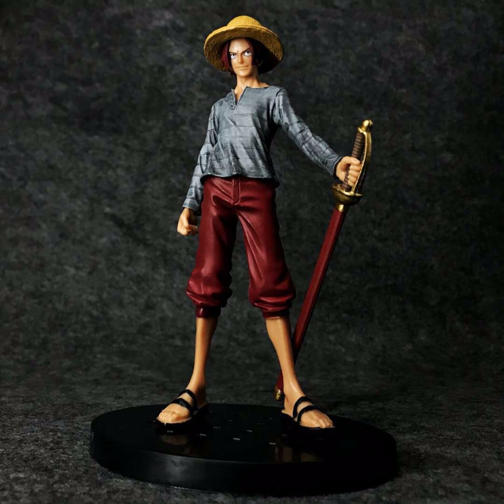 High Quality Free Shipping Hot Sale Japanese Anime Cartoon red hair One Piece DXF 15cm Shanks action figure toys Christmas toy