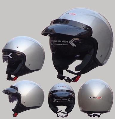 ФОТО Free shipping LS2 OF561 vintage motorcycle electric car warm winter safety helmet half helmet / Silver