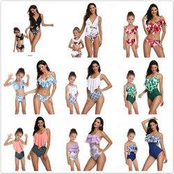 2 ps mamãe e eu maiô mãe e filha maiô mamãe e eu bikini 2019 família verão combinando roupas maiô