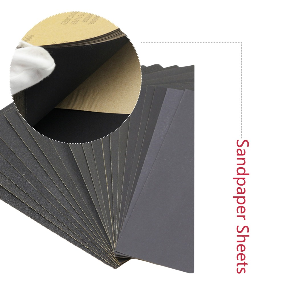 230*280mm German Warrior 991A Sandpaper With Grits P3000 P5000 P7000  Dry And Wet Waterproof Sandpaper Grinding Folding Knife