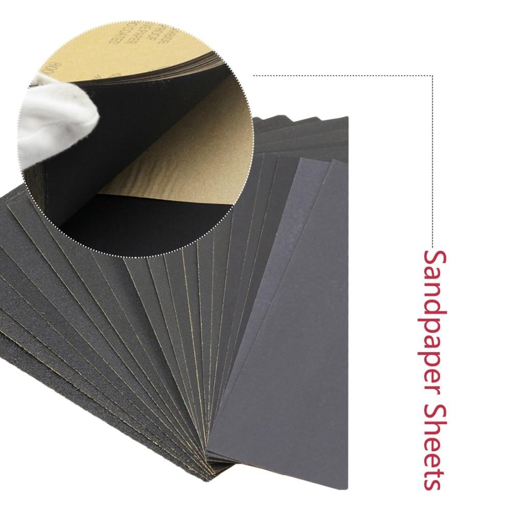 Guerrier allemand 991A papier de verre avec grains, couteau pliant 230x280mm, p3000 p5000 p7000, papier de verre sec et humide
