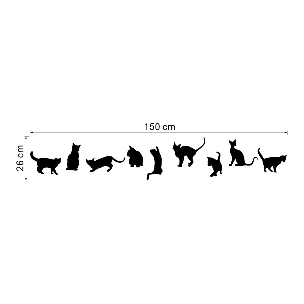Nine Cats Wall Stickers Removable Vinyl Home DIY Nine Cats Wall Stickers Removable Vinyl Home DIY HTB11O5rLpXXXXXdaXXXq6xXFXXXT