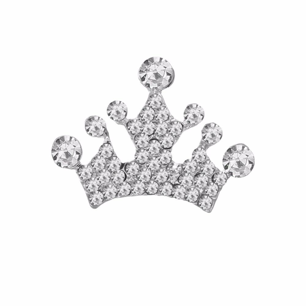 Free shipping flatback rhinestone crown button 100PCS/lot for hair accessary (BTN-5687)