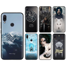 Jon snow games of thrones Silicone soft Cases for Xiaomi Redmi Note 7 6 Pro 5 Plus 6 6A Mi A1 A2 8 Lite Black TPU Phone case стоимость